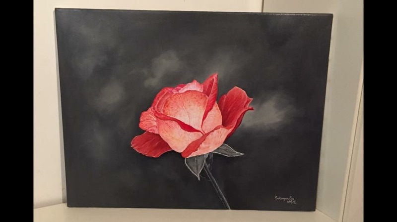 Rose ombragée