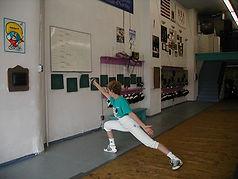 Fencing bounce forward  Elaine Cheris