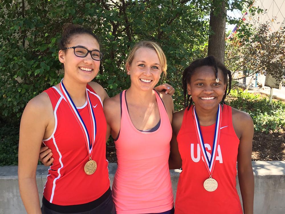 Samantha Achterberg, Naomi Ross & India Haber at the Nationals