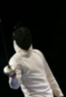 Epee fencer on Angle