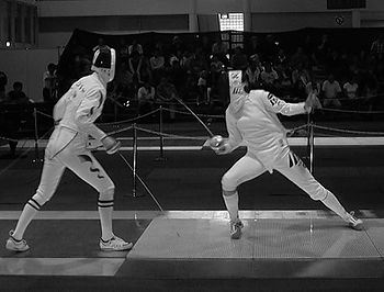 Fencers in Pentathlon Competition, fencing is an activity for after school programs