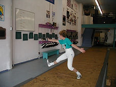 Fencing bounce on toes 1st  Elaine Cheris