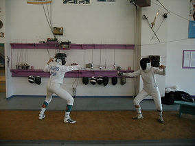 Elaine Cheris Olympic Fencer  at Cheyenne Fencing Society and Modern Pentathlon Center Denver CO