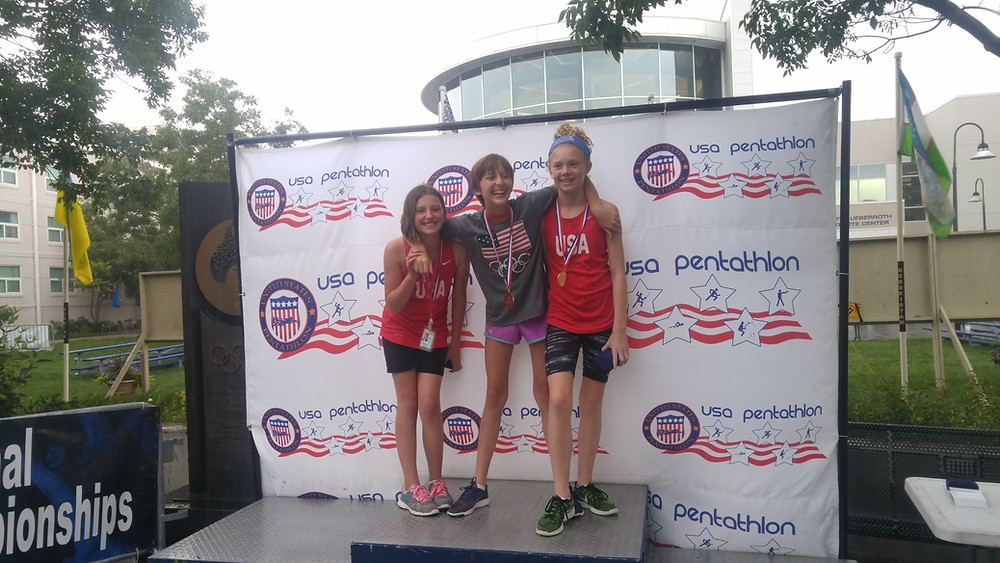 Winners at Youth Nationals- Jenna 1st  and Hannah 3rd