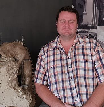 A photo of Iguana's site agent, Jaco Coetzee