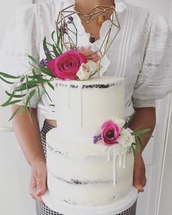Rustic 2 tier cake
