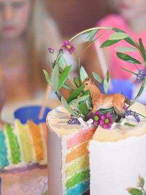 Pastel rainbow cake, from 85,00euros