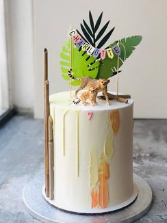 Safari modern cake