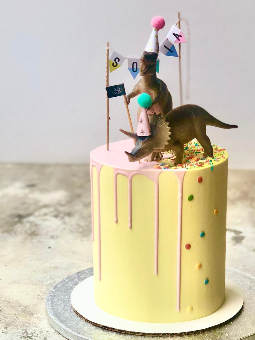 Festive Dino cake 79.50euros