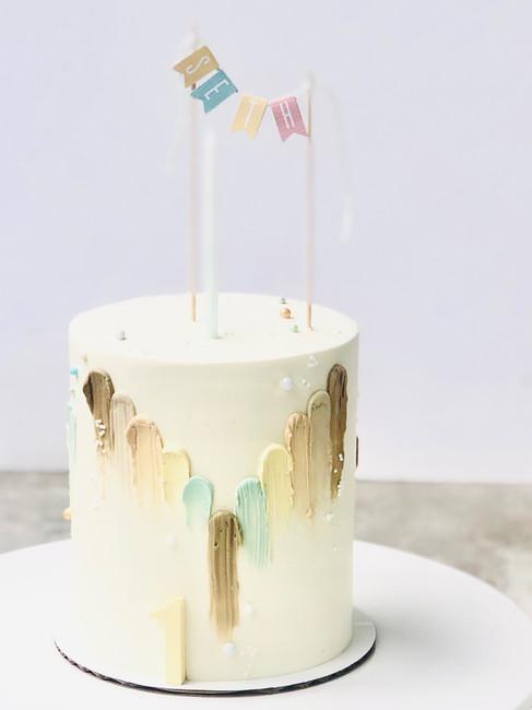 Earth tone cake