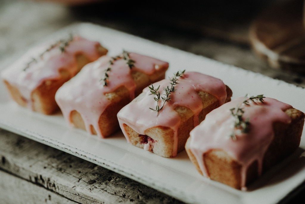 Lemon raspberry loaves
