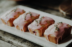 Lemon raspberry loaves