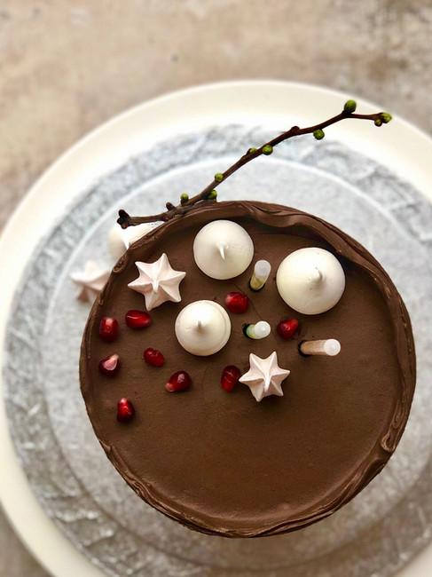 Dark chocolate pomegranate