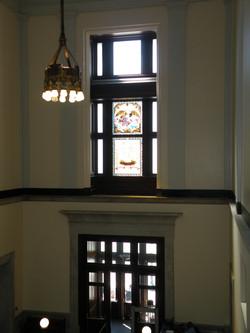 US Custom House Windows