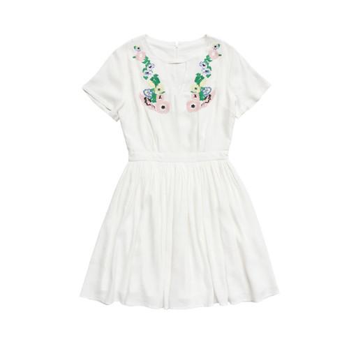 Pasa boho store boho clothings gypsy bohemian inspired embroidery white boho embroidered dress ccuart Images