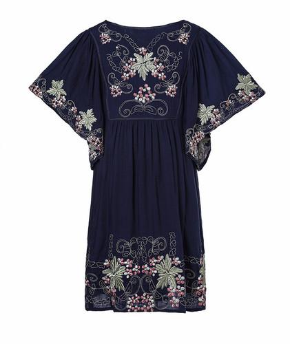 2675a344a51 Deep Ocean Boho Dress