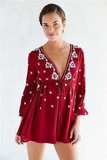 Buy Beige Colour Chanderi Embroidery Designer Dress Material Online