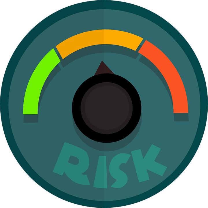 A circle with the word risk in it