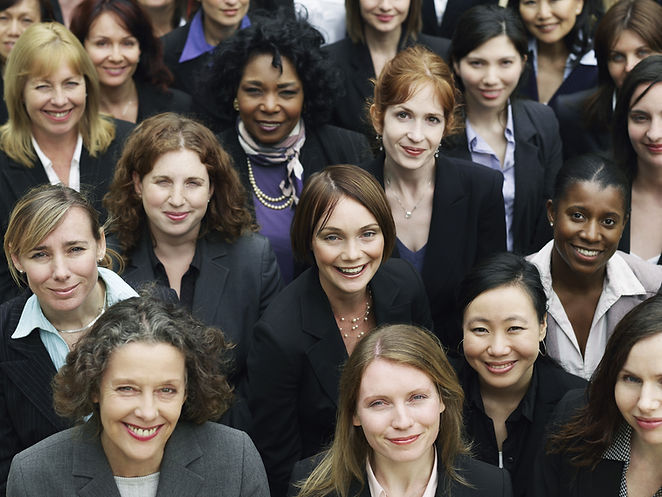 Elevated view of a group of smiling multiethnic businesswomen.jpg