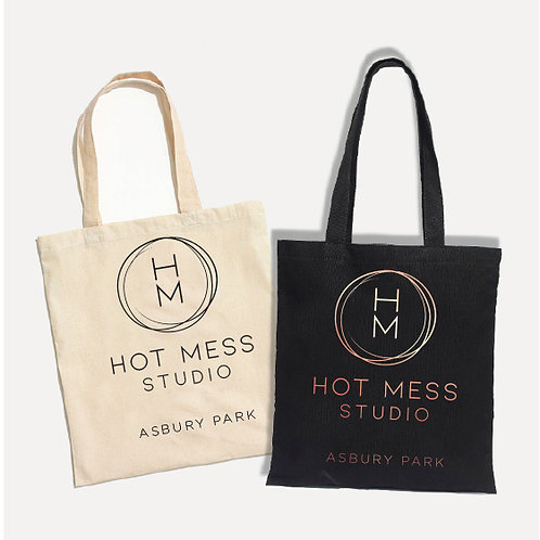 Hot Mess Canvas Tote