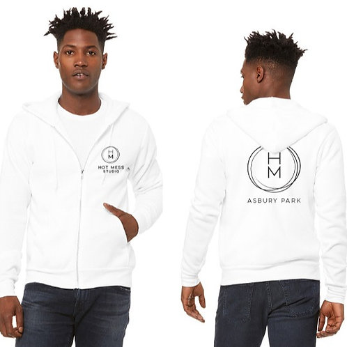 Hot Mess Logo Unisex Full Zip Hoodie