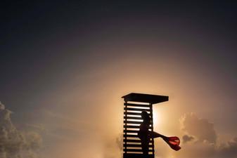 Fotógrafo de seiones en la Riviera Maya