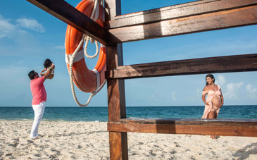 Fotógrafo de maternidad en la Riviera Maya