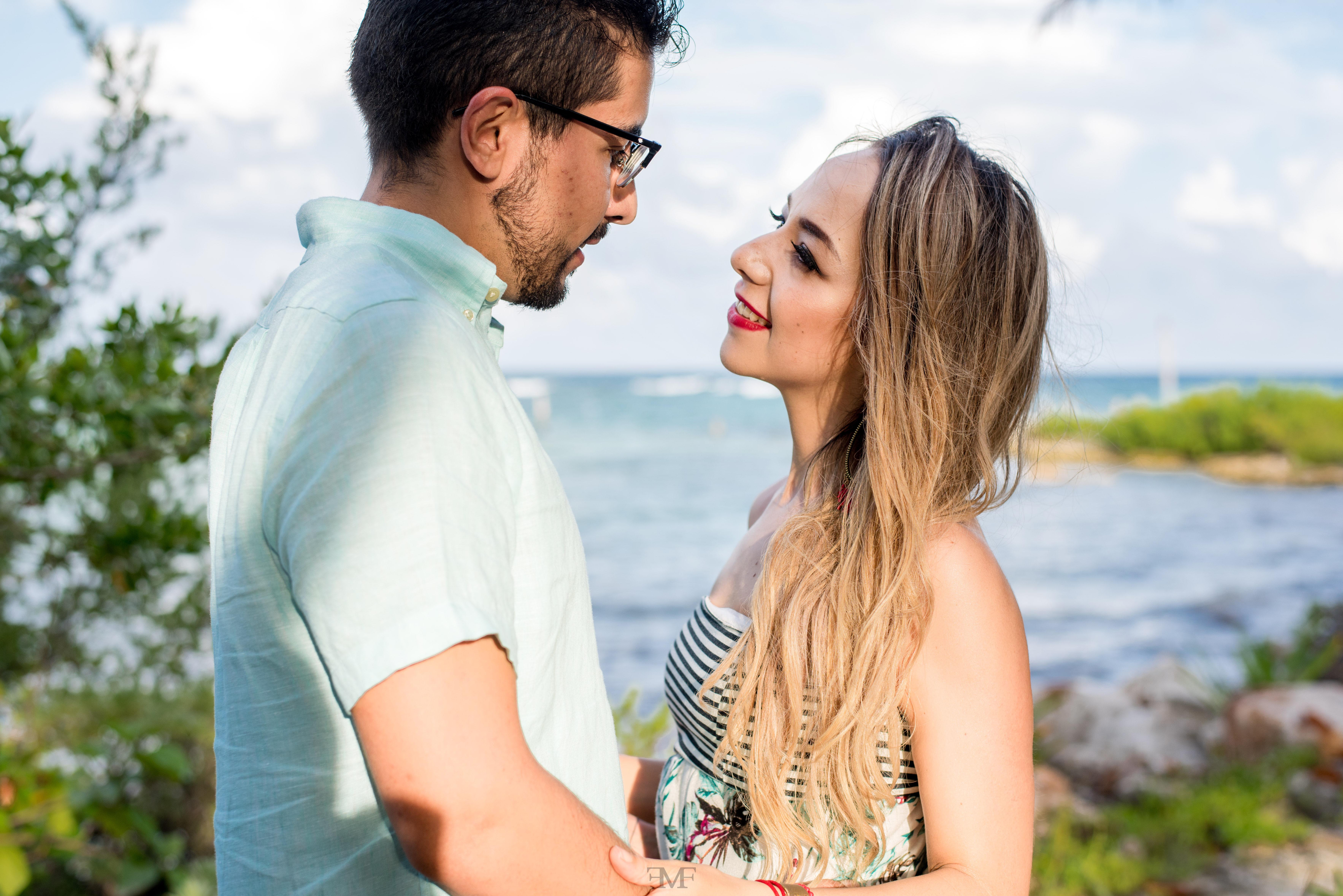 Fotografía de pareja en Riviera Maya