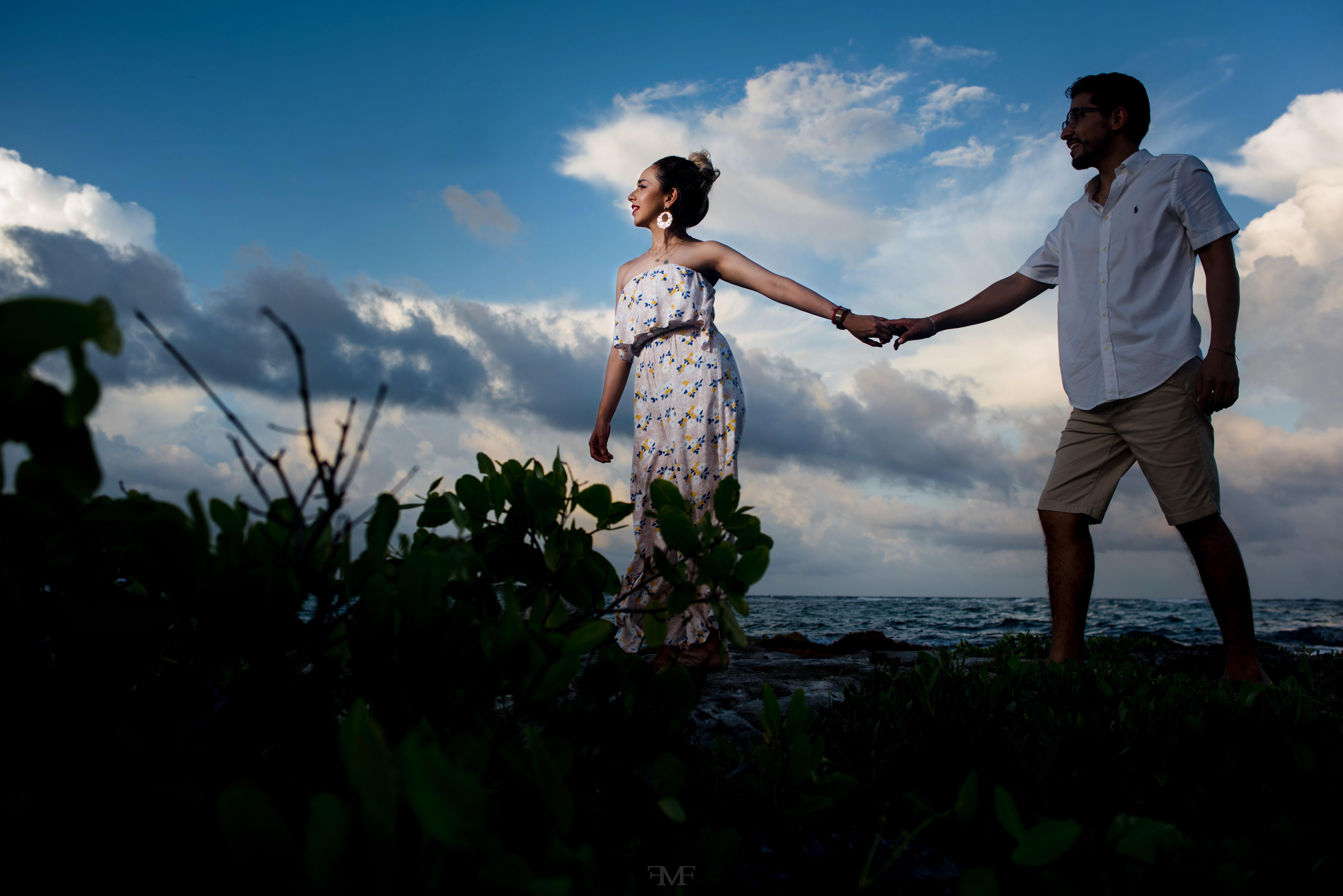 Sesiones deFotografía de pareja en Riviera Maya pareja en Riviera Maya