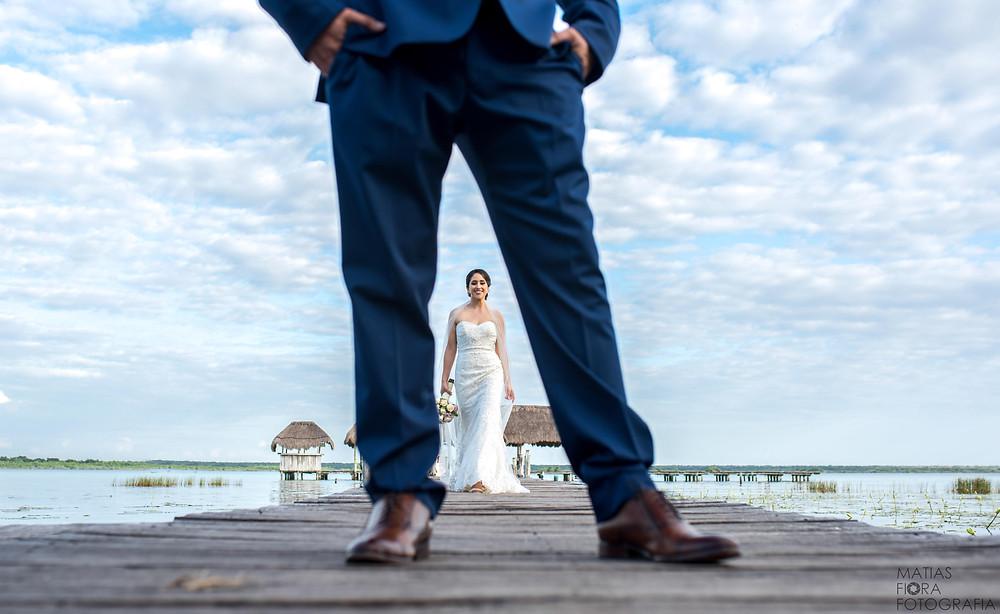 Fotografia de bodas en Bacalar .
