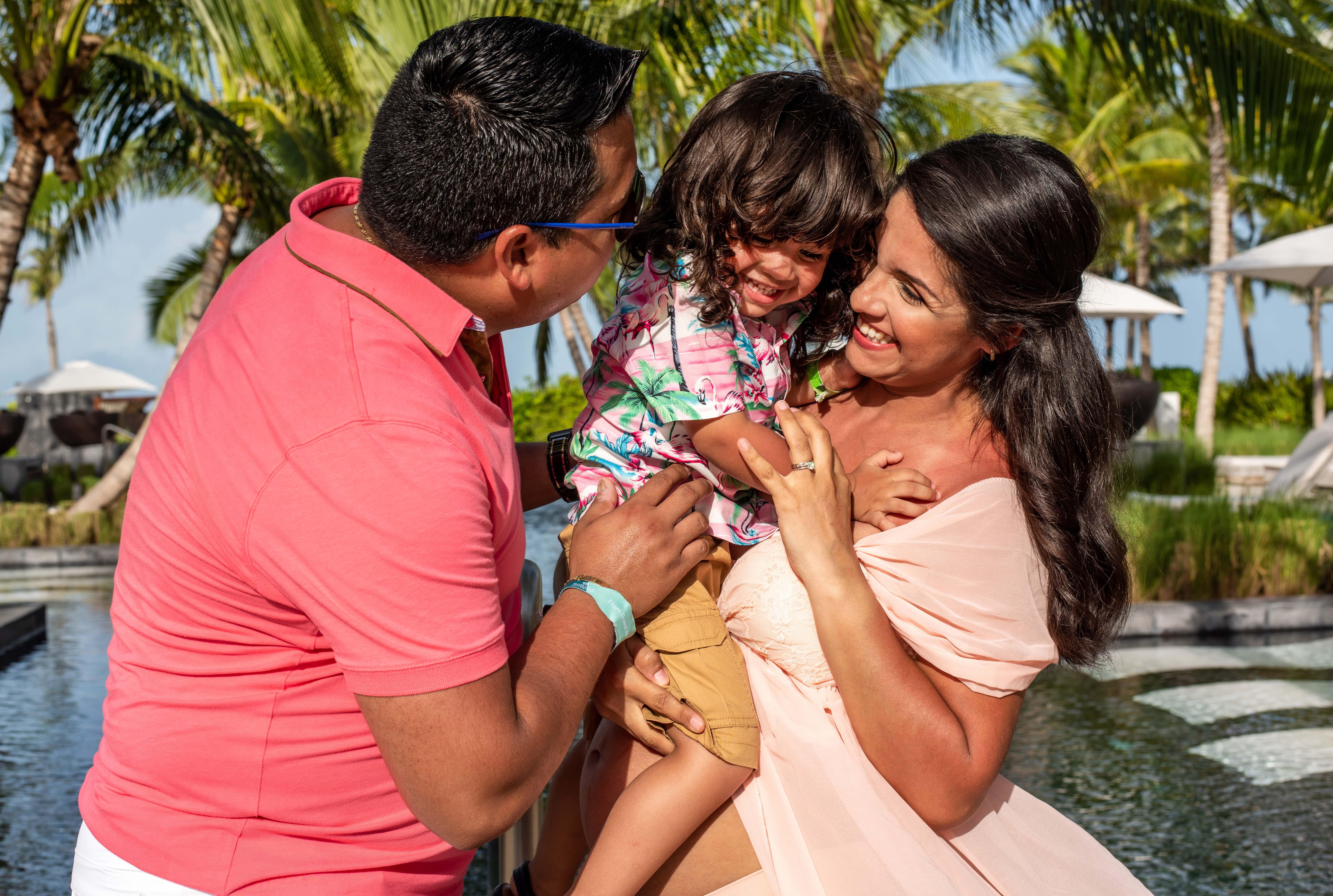 Fotografía de familia en Riviera Maya