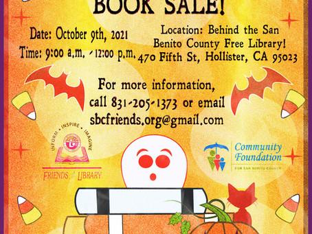 October Book Sale Saturday October 9th