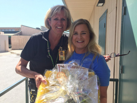 Friends Donate Gift Baskets to New Teachers