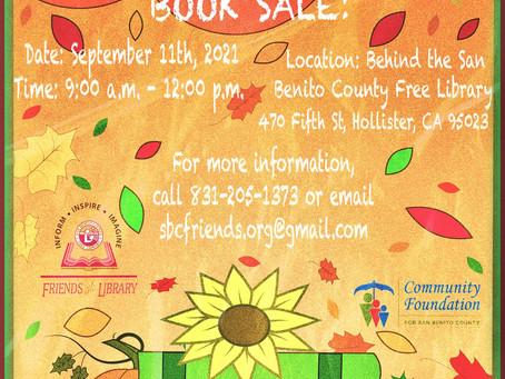 Autumn Book Sale Saturday, September 11th