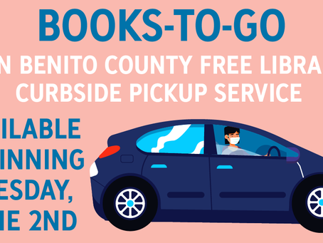 Books-To-Go Curbside Service Available at the Library