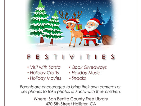 Library Holiday Program to take place December 5th