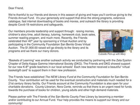 Friends of the Library Public Letter