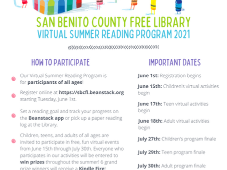 Summer Reading Registration Begins June 1st!