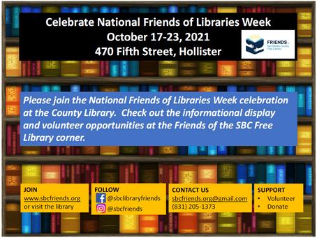National Friends of Libraries Week October 17-23, 2021