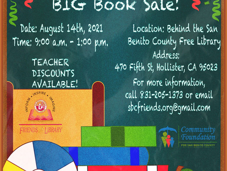 Back to School Book Sale Saturday, August 14th!