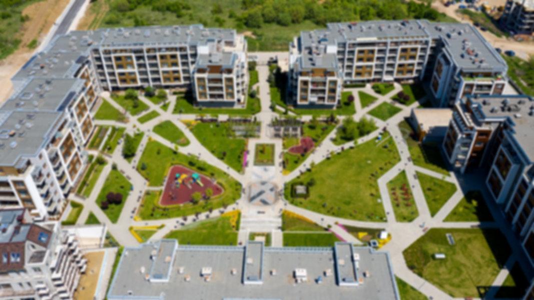 Видеозаснемане с дрон на жилищен комплекс