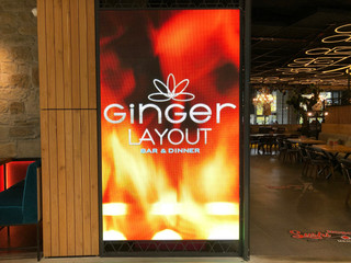 "LED екран за ""Ginger Layout"" в Serdika Center"