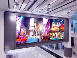 LED екран в търговски център