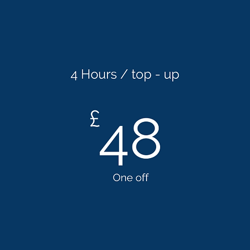 4 Hours / top-up