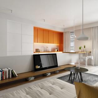 new vision lofts - kitchen & living