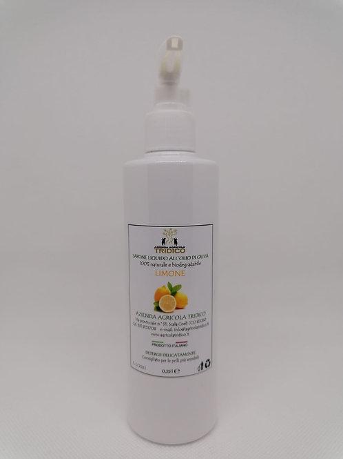 Sapone liquido all'olio di oliva e limone