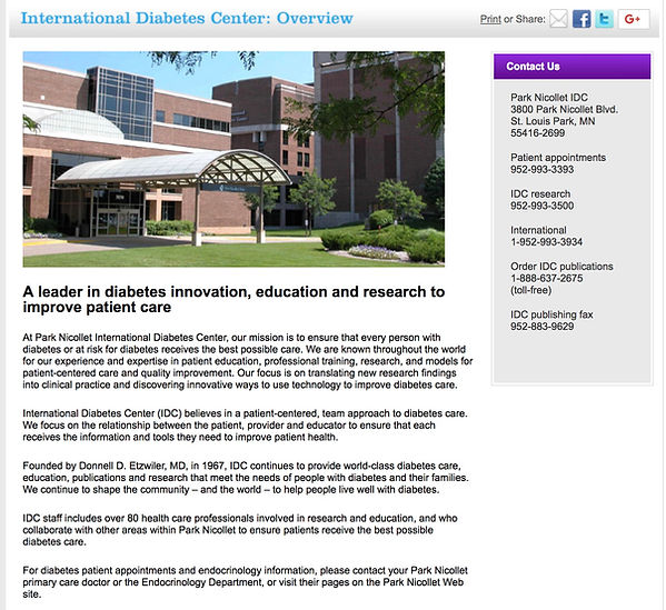 international diabetes center
