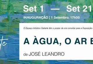 """Visite a exposição """"A Àgua, o Ar e Eu"""""""