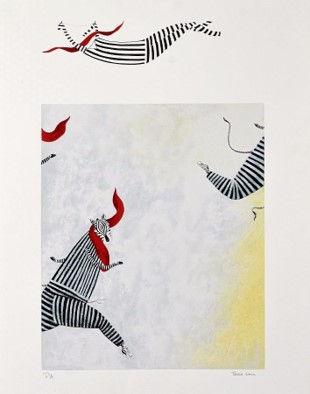 Serigrafia de Teresa Lima, Zebras