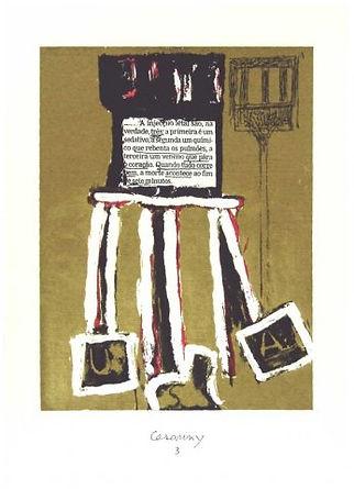 Serigrafia Título: Injecção Letal, 2006, de Mário Cesariny